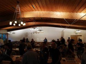 Der Turniersaal.